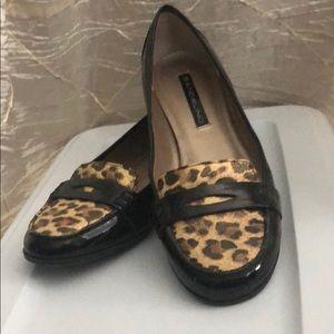 Bandolino black patten with animal print flats